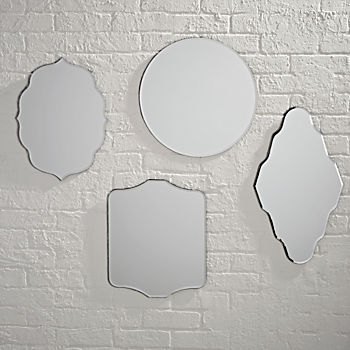 Set of 4 Looking Glass Mirrors