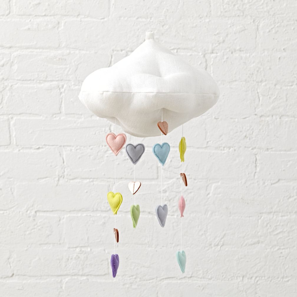 Cloud Amp Heart Baby Mobile The Land Of Nod