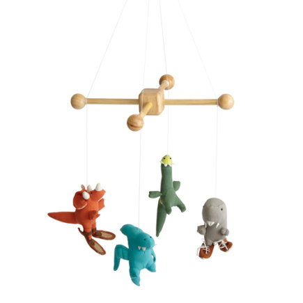 Dinosaur Baby Mobile - Plush-A-Saur Mobile