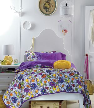 Twin Floral Conservatory Quilt<br />