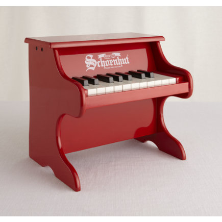 Kids Musical Instrument Toys: Kids Jr. Red Piano Toy - Red Wolfgang Amadeus Jr