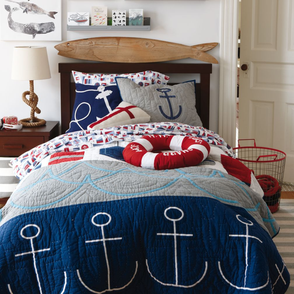 Kids Throw Pillows Kids Red Amp White Cotton Nautical