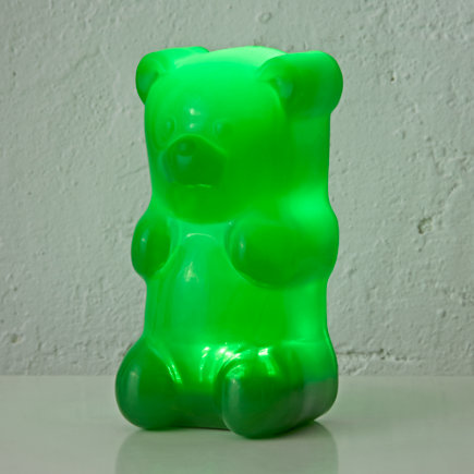 Kids Lighting: Colorful Gummy Bear Nightlight - Green Gummy Bear Night Light