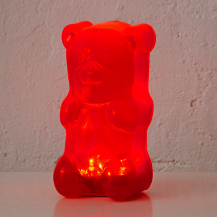 Kids Lighting: Colorful Gummy Bear Nightlight - Red Gummy Bear Night Light