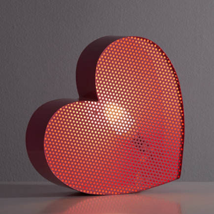 Pink Heart Metal Mesh Nightlight - Heart Pop Icon Night Light