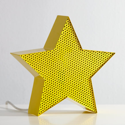 Yellow Star Metal Mesh Nightlight - Star Pop Icon Nightlight