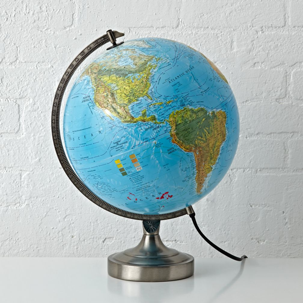 Kids Illuminated World Globe Lamp The Land Of Nod