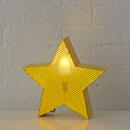 Yellow Star Metal Mesh Nightlight - Star Pop Icon Night Light