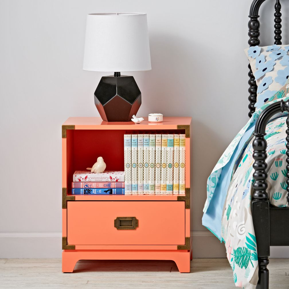 Campaign Nightstand (Coral)