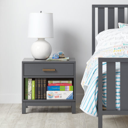 Cargo Nightstand (Grey) - Charcoal Cargo Nightstand