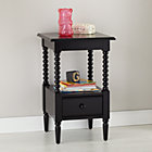 Black Jenny Lind Nightstand