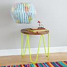 Neon Yellow Neon Nightstand