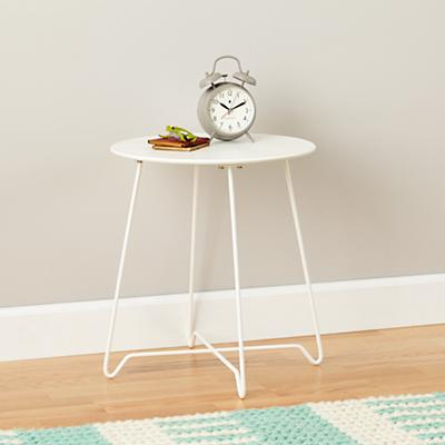 Streamline Metal Nightstand (White)