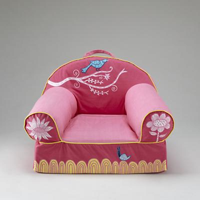 Pink Birds Nod Chair Cover Only