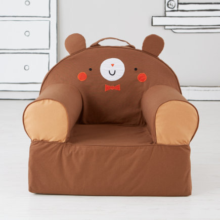 Kids Armchair: Bear - Personalized Brown Bear  Nod Chair(Includes Cover and Insert)