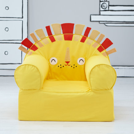 Kids Armchair: Lion - Personalized Yellow Lion Nod Chair(Includes Cover and Insert)