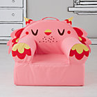 Pink Owl Nod Chair Cover Cover