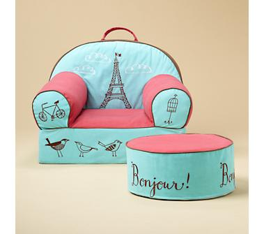 Kids' Personalized Seating: Kids Personalized Paris Eiffel Tower Nod Chair in The Nod Chair