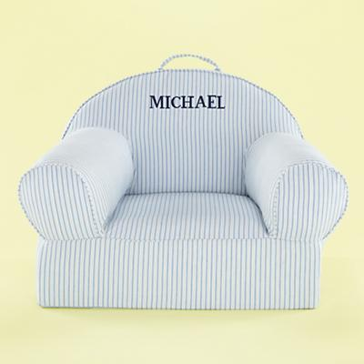 Personalized Ticking Nod Chair Cover (Blue)