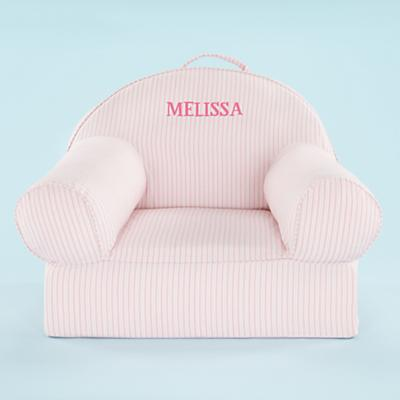 Personalized Ticking Nod Chair Cover (Pink)