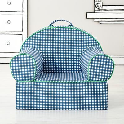 Executive Nod Chair Cover (Blue Gingham)