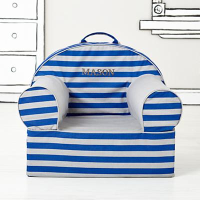 Executive Personalized Nod Chair (Blue Rugby Stripe)