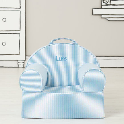 Personalized Blue Stripe Mini Nod Chair(Includes Cover and Insert)