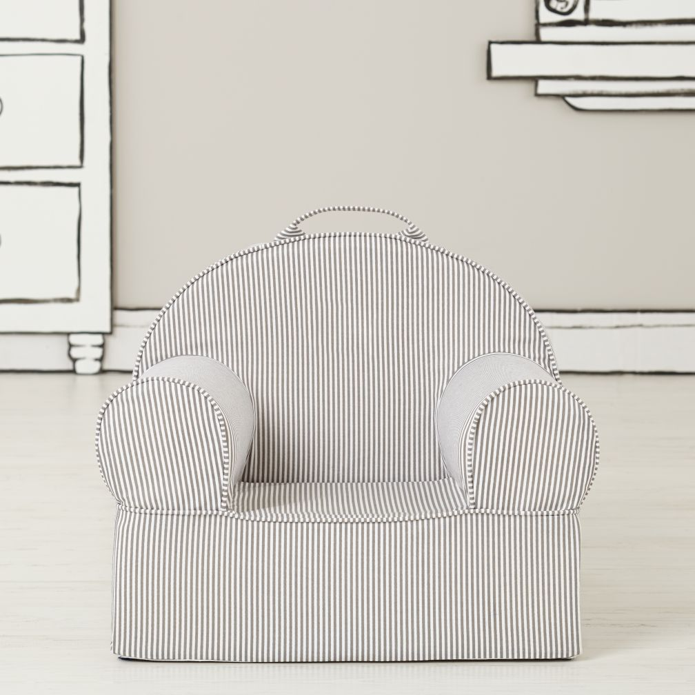 Entry Level Grey Stripe Nod Chair Cover