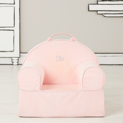 Personalized Pink  Stripe Mini Nod Chair(Includes Cover and Insert)