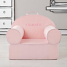 Personalized Pink Tick Stripe Nod Chair Cover