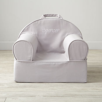 Entry Level Personalized Grey Nod Chair Cover