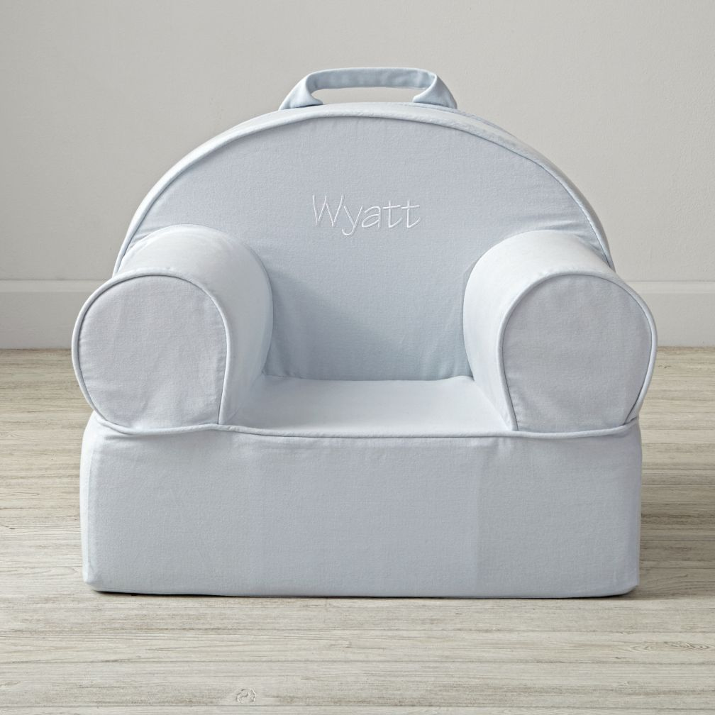 Entry Level Personalized Light Blue Nod Chair Cover