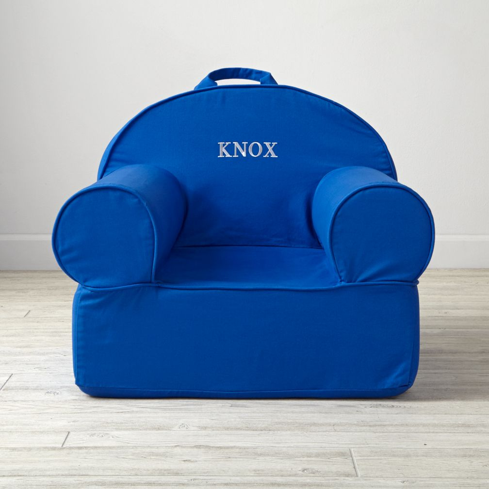 Personalized Executive Blue Nod Chair
