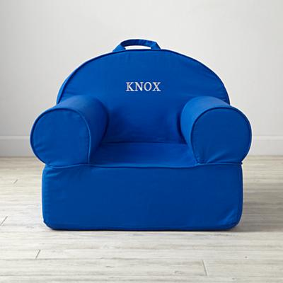 Personalized Executive Blue Nod Chair Cover