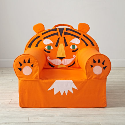 Tiger Kids Executive Nod Chair - Personalized Executive Tiger Animal Nod Chair(Includes Cover and Insert)
