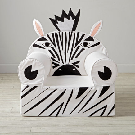 Zebra Kids Executive Nod Chair - Personalized Executive Zebra Animal Nod Chair(Includes Cover and Insert)