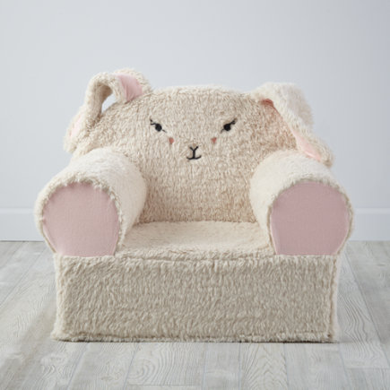 Personalized Bunny Furry Animal Nod Chair (Includes Cover and Insert)