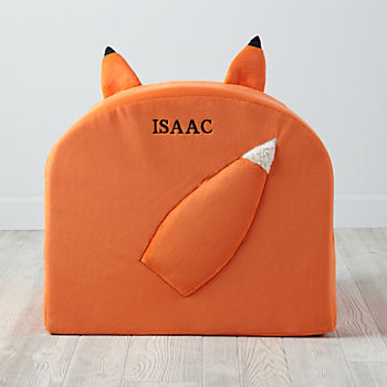 Personalized Furry Animal Nod Chair (Fox)