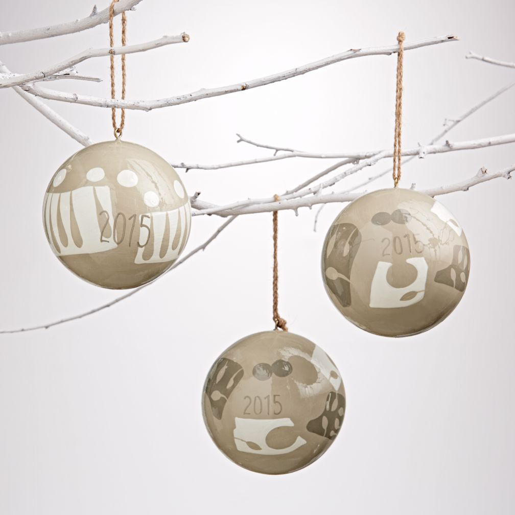 Winter Flurry Ornaments (Set of 3)