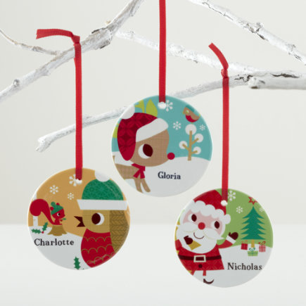 Kids Ornaments: Colorful Personalized Ornaments - Personalized Rudolph Ornament