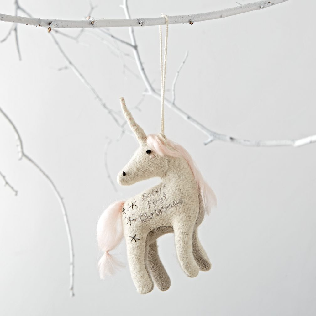 Baby's First Christmas 2016  Unicorn Ornament