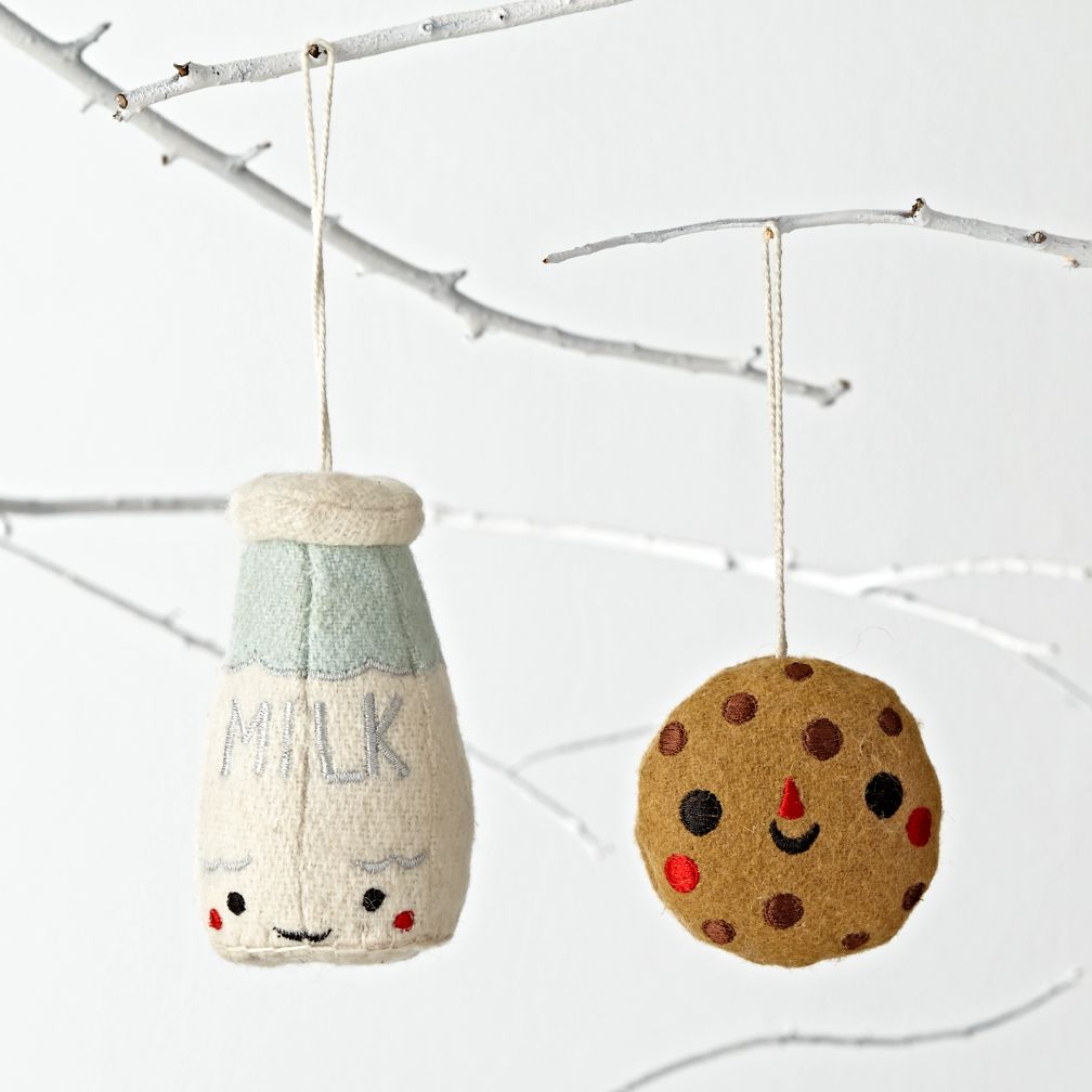 Besties Ornaments (Milk & Cookies)