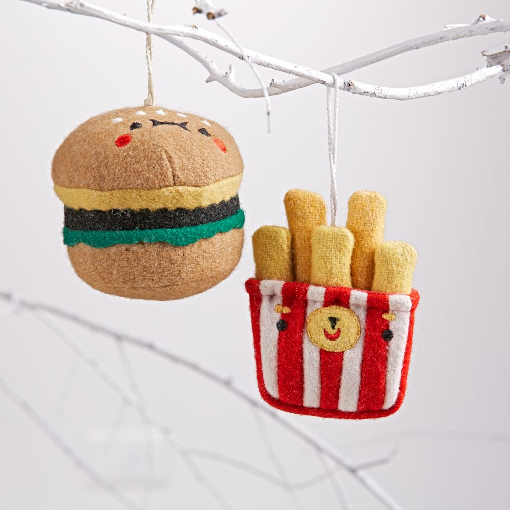 Besties Ornaments (Burger & Fries)