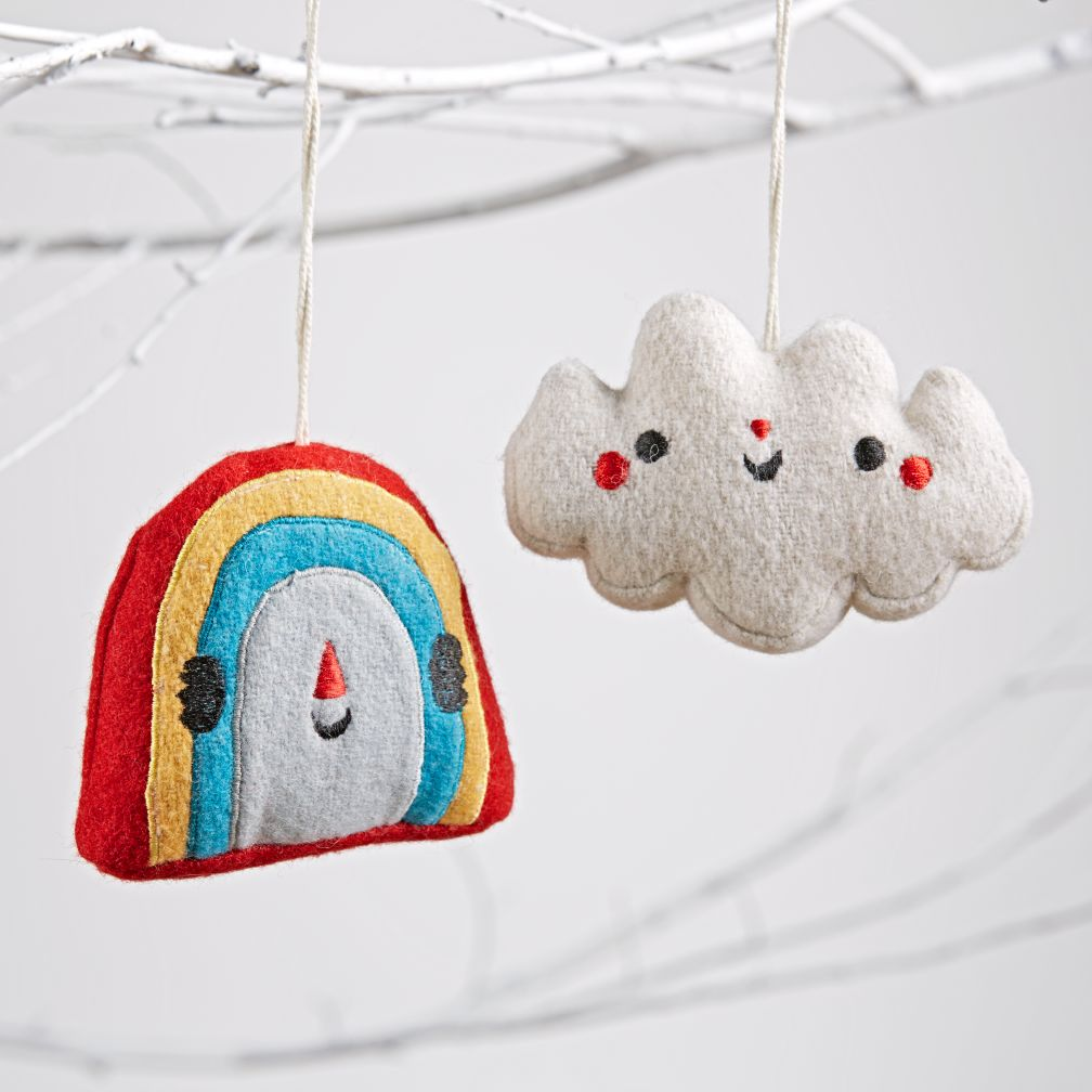 Besties Ornaments (Rainbow & Cloud)