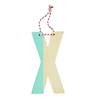 'X' Color Dipped Letter Ornament