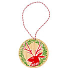 Festive Folklore Deer 2016 Ornament