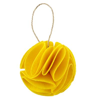 Yellow Frilled Felt Ornament