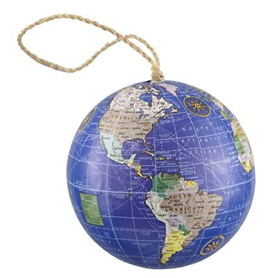 Blue Globe Ornament