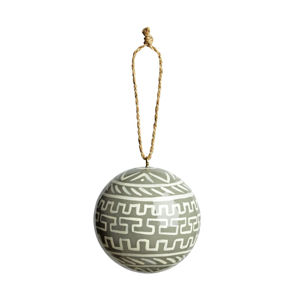 Patterened Ornament (Grey)
