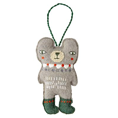 Bear Holiday Helper Christmas Ornament